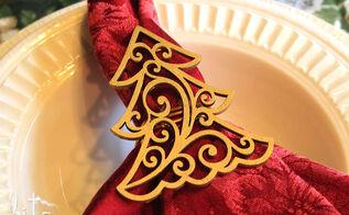 how to make holiday napkin rings, christmas decorations, crafts, seasonal holiday decor