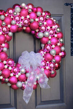 how to make a christmas wreath from pink bulbs, christmas decorations, crafts, seasonal holiday decor, wreaths