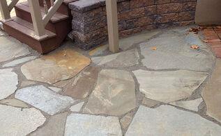 natural flagstone patio extension, concrete masonry, patio
