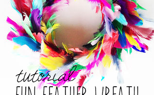 how to make a feather wreath, crafts, wreaths