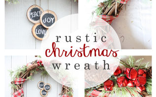Rustic Christmas Wreath Hometalk