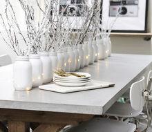 set a winter white table, christmas decorations, crafts, mason jars, repurposing upcycling, seasonal holiday decor