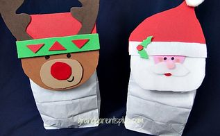 how to make christmas gift bags, christmas decorations, crafts, seasonal holiday decor