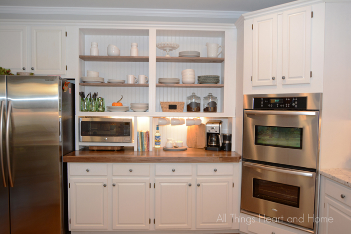Built In Cupboard W A Microwave Cubby Appliances Kitchen Cabinets Kitchen Design Organizing