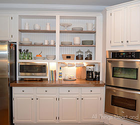 Built In Cupboard W A Microwave Cubby, Appliances, Kitchen Cabinets,  Kitchen Design, Organizing
