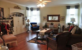 before and after kitchen and family room redo, home decor, kitchen design, living room ideas, reupholster