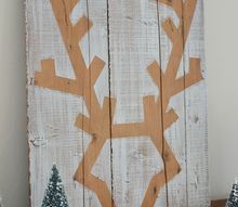 how to make a deer head wall art, christmas decorations, crafts, pallet, seasonal holiday decor, woodworking projects