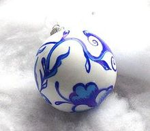 how to make blue and white chinoiserie ornament, christmas decorations, crafts, seasonal holiday decor