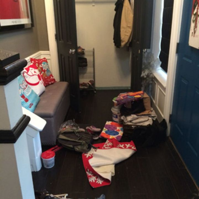 Foyer Closet Dimensions : Reclaimed entry closet hometalk