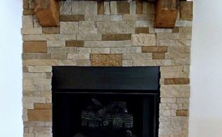 diy airstone fireplace reveal, christmas decorations, fireplaces mantels, how to, seasonal holiday decor