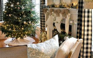 festive and bright christmas in the family room, christmas decorations, crafts, seasonal holiday decor