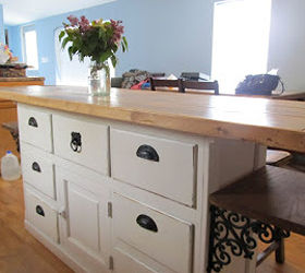 Vintage Built In Buffet Turned Into Cool Rustic Farmhouse Island | Hometalk