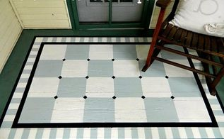 how to paint a diamond rug on wood floor, flooring, how to, painting