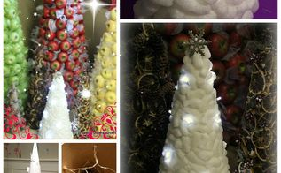 how to make a recycled packing peanuts tree, christmas decorations, crafts, repurposing upcycling, seasonal holiday decor