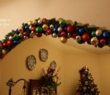 christmas decorated archway, christmas decorations, crafts, seasonal holiday decor