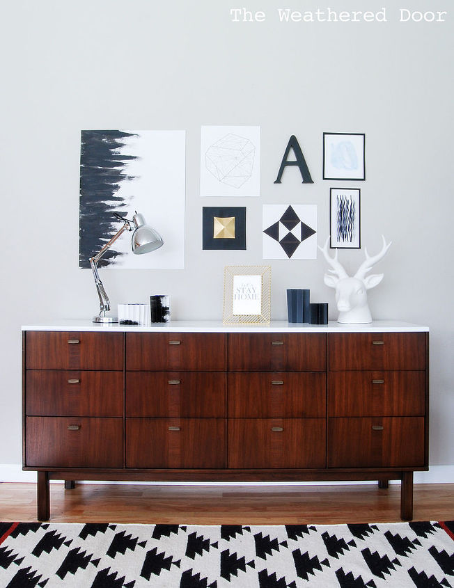 mid century modern credenza ikea los angeles repainted home decor painted furniture for sale