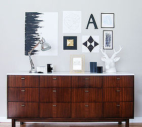 before after mid century modern credenza repainted home decor painted furniture mid century - Modern Credenza
