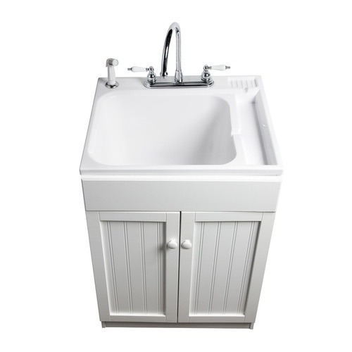 something like this is functional and prettier than your average laundry sink