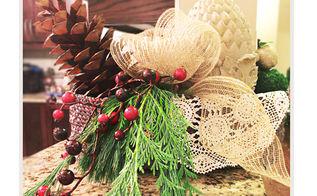 festive arrangement diy tutorial, christmas decorations, crafts, how to, seasonal holiday decor