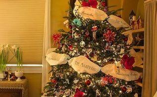 christmas tree decorated with memories, christmas decorations, crafts, repurposing upcycling, seasonal holiday decor