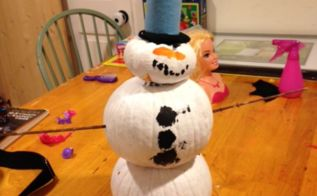 pumpkin snowman, crafts, seasonal holiday decor