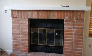 q ideas to revamp an old fireplace, concrete masonry, fireplaces mantels, home decor, home improvement, living room ideas, tiling