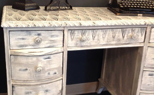 using annie sloan s royal design stencil on a desk, chalk paint, home decor, painted furniture