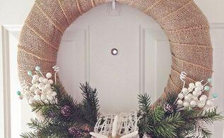 diy coastal winter wreath, christmas decorations, crafts, seasonal holiday decor, wreaths