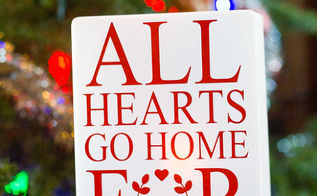 all hearts go home customized luminaria, christmas decorations, crafts, lighting, seasonal holiday decor