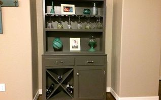 hutch to wine bar makeover, painted furniture, repurposing upcycling