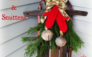 creating smittens for christmas winter decor, christmas decorations, crafts, repurposing upcycling, seasonal holiday decor