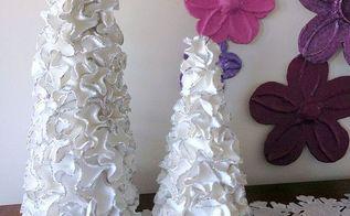 ruffled foam sheets glitter christmas tree cones diy, christmas decorations, crafts, how to, seasonal holiday decor