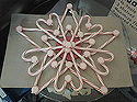q candy cane christmas star, christmas decorations, crafts, repurposing upcycling, seasonal holiday decor