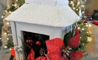 upcycling a flea market lantern, christmas decorations, crafts, repurposing upcycling, seasonal holiday decor