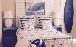 coastal colors sea glass and sea spray beach chic guest room, bedroom ideas, chalk paint, painted furniture, painting, repurposing upcycling