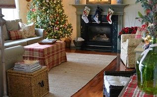 christmas kitchen family room decor, christmas decorations, fireplaces mantels, seasonal holiday decor, wreaths
