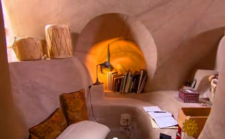 the most beautiful home ever is actually a cave, architecture, bathroom ideas, bedroom ideas, home decor, wall decor, Electricity power in this cave s office