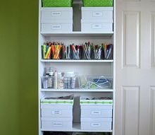inexpensive and unexpected items to store your craft supplies, craft rooms, organizing, shelving ideas, storage ideas