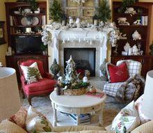 wintery christmas mantel decor, christmas decorations, fireplaces mantels, living room ideas, seasonal holiday decor