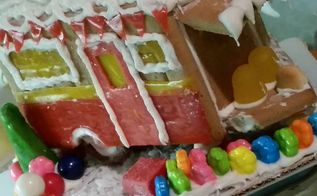 turn your gingerbread house into a christmas glamper, christmas decorations, crafts, seasonal holiday decor