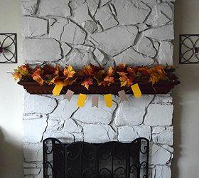 DIY Painted Stone Fireplace | Hometalk