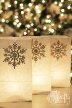 christmas luminarias, christmas decorations, crafts, repurposing upcycling, seasonal holiday decor