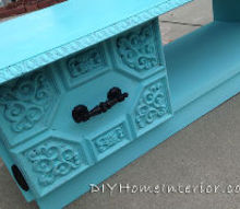 vintage coffee table makeover, painted furniture