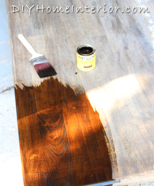 Dining Room Table Refinishing: Refinishing A Dining Room Table With Paint And Wood Stain