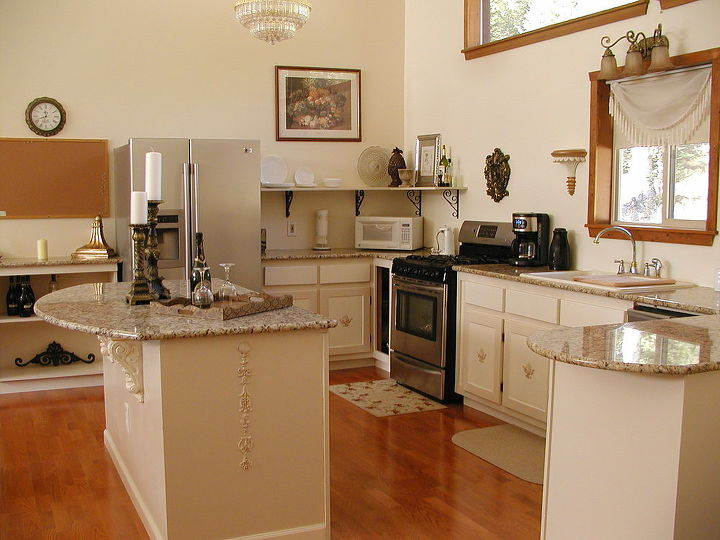 High end kitchen make over of a mountain home hometalk for End of line kitchen units