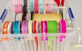 diy organised storage for ribbon string and tape, craft rooms, crafts, organizing, storage ideas