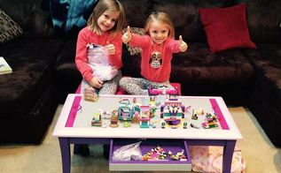 diy lego friends table, bedroom ideas, entertainment rec rooms, painted furniture, repurposing upcycling