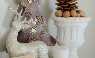 rustic and bright christmas mantel, christmas decorations, crafts, fireplaces mantels, repurposing upcycling, seasonal holiday decor