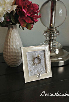 framed wedding ring holder tutorial, crafts, how to, organizing