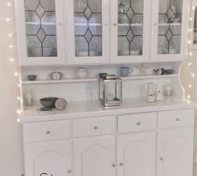 Old Kitchen Hutch Transformed And Re Styled!!   Hometalk